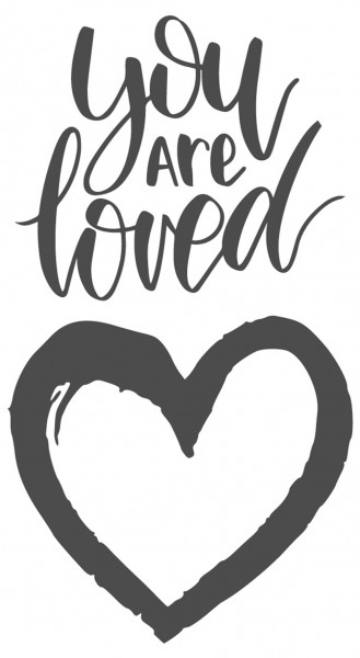 Wandtattoo Spruch Liebe Schlafzimmer You are loved Wandsticker