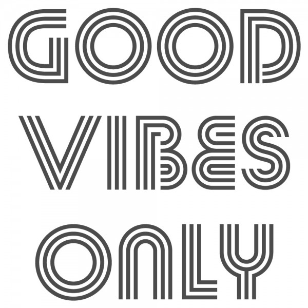 Wandtattoo Spruch lustig Good vibes only Wandsticker Dekoration