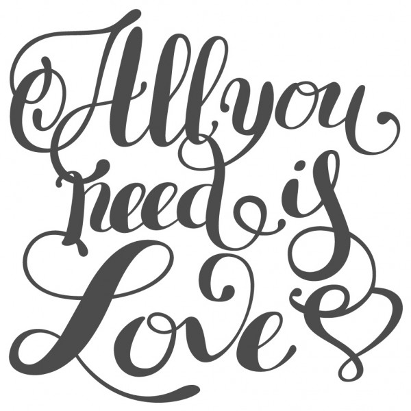 Wandtattoo Spruch Liebe All you need is love Schlafzimmer Wanddeko