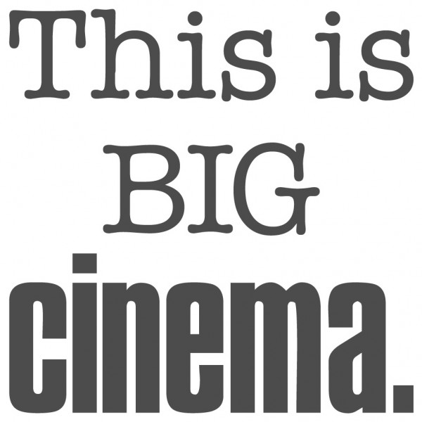 Wandtattoo Spruch lustig This is big cinema Wandsticker Dekoration