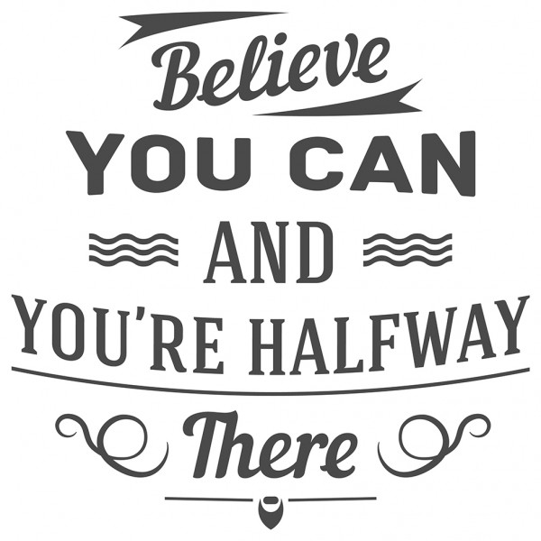 Wandtattoo Spruch Motivation Believe you can Wandsticker Dekoration
