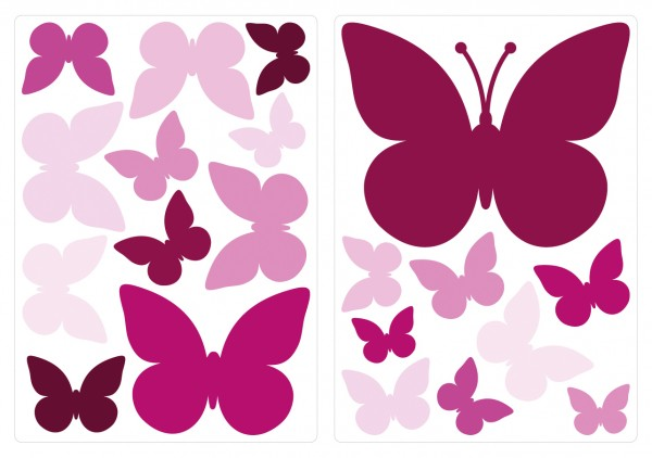 Wandtattoo Schmetterlinge Orchidee Wandsticker Deko Set