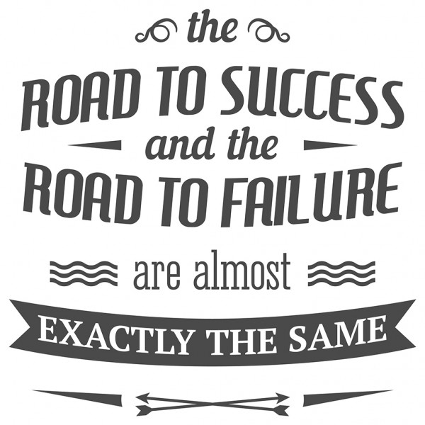 Wandtattoo Spruch Motivation Road to success Wandsticker Dekoration
