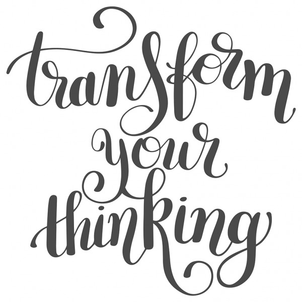 Wandtattoo Spruch Motto Transform your thinking Wandsticker Deko