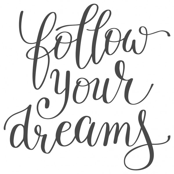 Wandtattoo Spruch Motto Follow your dreams Wandsticker Deko