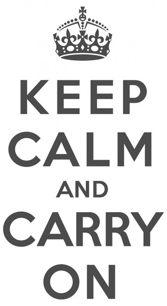 Wandtattoo Spruch Motto Keep calm and carry on Wandsticker Dekoration