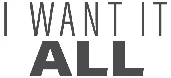 Wandtattoo Spruch lustig I want it all Wandsticker Dekoration