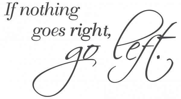 Wandtattoo Spruch Zitat If nothing goes right, go left Wanddeko