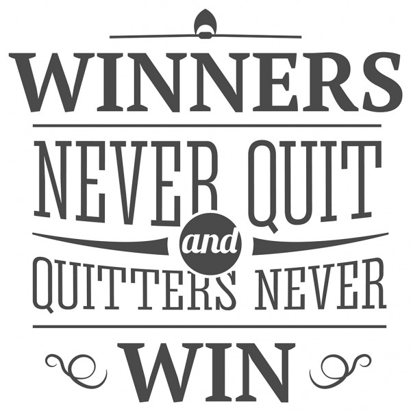 Wandtattoo Spruch Motivation Winners never quit Wandsticker Deko