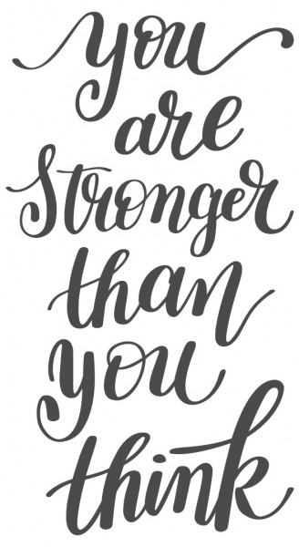 Wandtattoo Spruch Motivation You are stronger than you think Deko