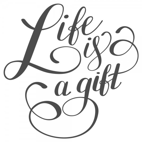 Wandtattoo Spruch Motto Life is a gift Wandsticker Deko