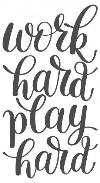 Wandtattoo Spruch Motto Work hard play hard Wandsticker Deko